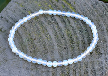 Load image into Gallery viewer, New! Reiki Charged Opalite Crystal Small Beads Bracelet Inc Luxury Gift Box
