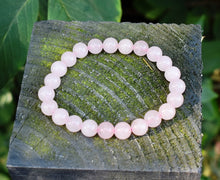 Load image into Gallery viewer, New! Natural Rose Quartz Polished Crystal Stone Beads Bracelet