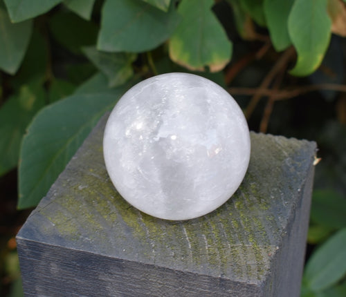 New! Large Natural & Unique Clear Quartz 'Master Healer' Polished Sphere Ball 230g