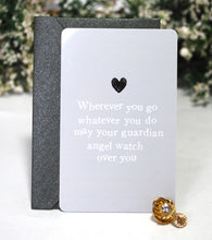 Load image into Gallery viewer, New! Reiju Gift Set 'Wherever You Go, Whatever You Do' Keepsake Card & Clear Jewel Guardian Angel Pin Badge