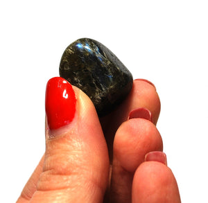 New! Natural Labradorite Crystal Tumble Stone Polished Gift