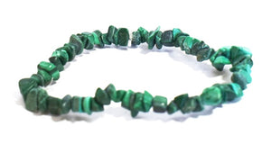 New! Natural Malachite Crystal Polished Chips Bracelet Gift Wrapped
