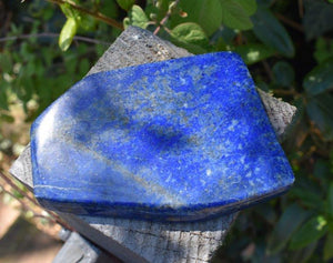 New! Lapis Lazuli Crystal Stone Natural & Unique Freeform Piece 235g Inc Luxury Gift Box