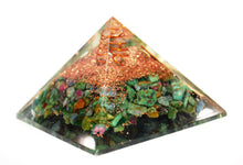 Load image into Gallery viewer, New! Large Ruby In Fuschite Crystal Stones Orgone Orgonite Pyramid