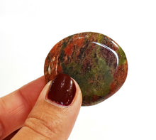 Load image into Gallery viewer, New! Natural Unakite Polished Crystal Palmstone Cabachone Gift
