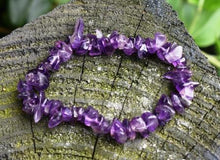 Load image into Gallery viewer, New! Amethyst Natural Crystal Stone Chips Power Bracelet For Calming