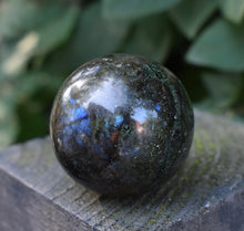 Load image into Gallery viewer, New! Large Solid Natural & Unique Large Labradorite Crystal Stone Polished Sphere Ball 230g