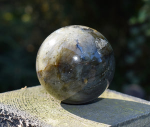 New! Large Solid Natural & Unique Large Labradorite Crystal Stone Polished Sphere Ball 230g