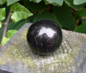 New! Natural Shungite Crystal Stone Polished Sphere Ball