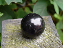 Load image into Gallery viewer, New! Natural Shungite Crystal Stone Polished Sphere Ball