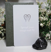 Load image into Gallery viewer, New! Natural Shungite Crystal Tumble Stone With Keepsake Gift Card