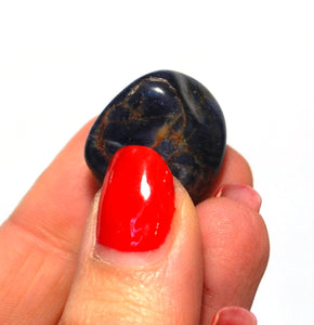 New! Sapphire Natural Unique Blue Crystal Tumble Stone