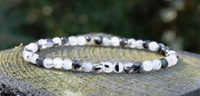 Load image into Gallery viewer, New! Natural Polished Tourmaline & Quartz Small Beads Elasticated Bracelet