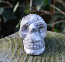 Load image into Gallery viewer, New! Natural & Unique Crystal Carved Polished Skull Figure 79g (Reduced Due To Crack) Inc Gift Box