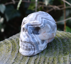 New! Natural & Unique Crystal Carved Polished Skull Figure 79g (Reduced Due To Crack) Inc Gift Box