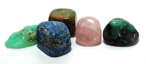 New! Natural Crystals For Love Polished Tumble Stones Set