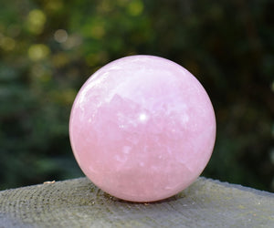 New! Large Natural South African Rose Quartz Polished Crystal Sphere Ball 200g