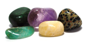 New! Natural Crystals For Joy Polished Tumble Stones Set