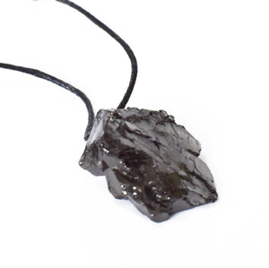 New! Natural Raw Shungite Crystal Chunk Pendant Inc Cord Necklace Gift Boxed