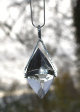 Load image into Gallery viewer, New! Natural Herkimer Quartz Crystal Pendant Necklace Inc Gift Box