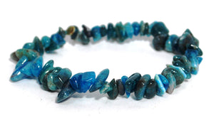 New! Natural Blue Apatite Crystal Stones Bracelet