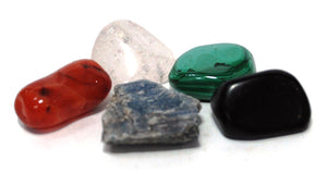 New! Natural Crystals For Energy Polished Tumble Stones Set