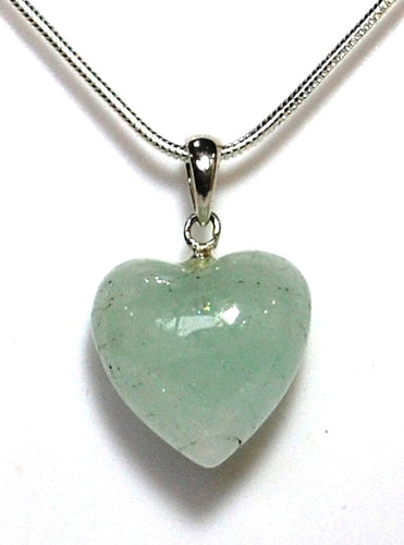 New! Aquamarine Crystal Stone 925 Sterling Silver Heart Pendant Inc 925 Silver Chain