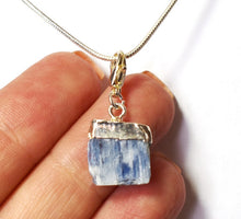 Load image into Gallery viewer, New! Kyanite Blue Crystal Raw Stone Pendant Charm Inc Necklace & Gift Box