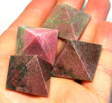 Load image into Gallery viewer, Natural Rhodonite Crystal Stone Polished Pyramid