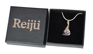 New! Natural Light Amethyst Electroplated Crystal Stone Charm/ Pendant Necklace Gift Boxed