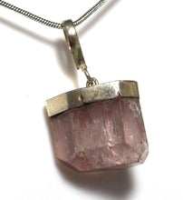 Load image into Gallery viewer, New! Natural Kunzite Crystal Stone Pendant Inc 925 Sterling Silver Clasp & Chain Necklace