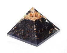 Load image into Gallery viewer, New! Large Natural Shungite Crystal Stones Large Orgone Pyramid