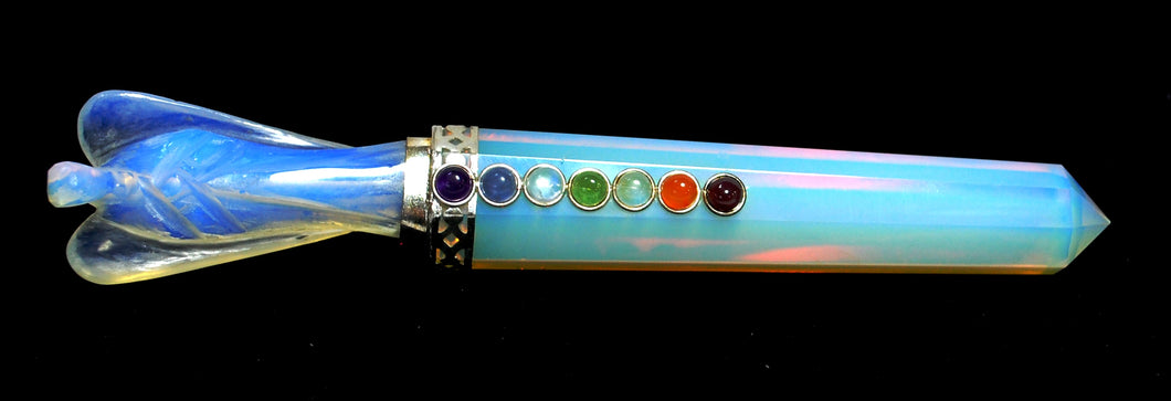 New! Polished Opalite Chakra Crystal Polished Angel Healing Wand