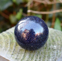 Load image into Gallery viewer, New! Blue Goldstone Polished Crystal Stone Sphere Ball Inc Luxury Gift Box & Tag