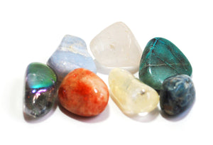 Crystals for Aligning & Clearing the Chakras, Crystal Tumble Stone Healing Set