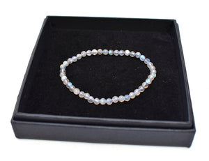 New! AA Grade Labradorite Faceted Beads Natural Crystal Stone Bracelet Gift Boxed