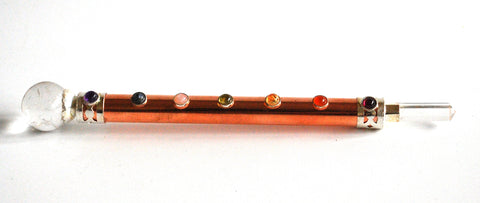 Copper & Clear Quartz Crystal Stone Chakra Wand Healing Stick - Krystal Gifts UK