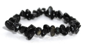 New! Natural Black Obsidian Crystal Stones 'Protection' Bracelet