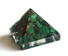 Load image into Gallery viewer, Malachite Crystal Stone Chips Orgone Pyramid Gift - Krystal Gifts UK