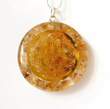 "Load image into Gallery viewer, NEW Citrine ""Tree Of Life"" Orgone Crystal Stone Pendant Inc Silver Chain - Krystal Gifts UK"