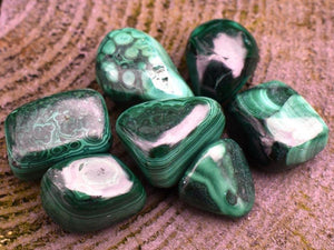 New! Malachite Natural Polished Crystal Tumble Stone Gift Wrapped Inc Benefits Tag