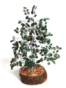 Green Aventurine Crystal Chip Wire Wrapped Gemstone Tree