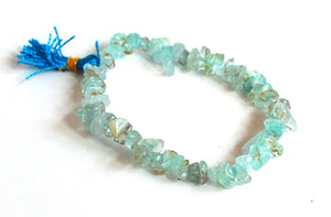 Aquamarine Crystal Stone Chips Power Bracelet