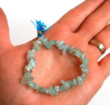 Load image into Gallery viewer, Aquamarine Crystal Stone Chips Power Bracelet
