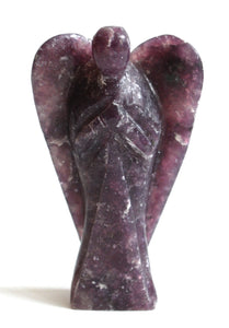 Natural Large Lepidolite Crystal Stone Angel Figure