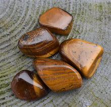 Load image into Gallery viewer, Tigers Eye Crystal Tumble Stone