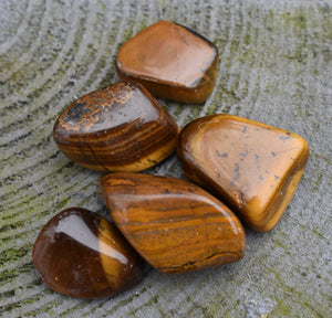 Tigers Eye Crystal Tumble Stone
