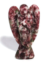 Load image into Gallery viewer, Natural Lepidolite Purple Crystal Stone Healing Angel Figure For 'Calm'