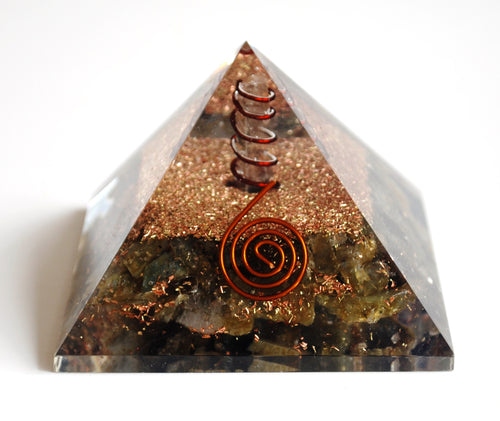 Large Labradorite Crystal Chips Orgone Pyramid