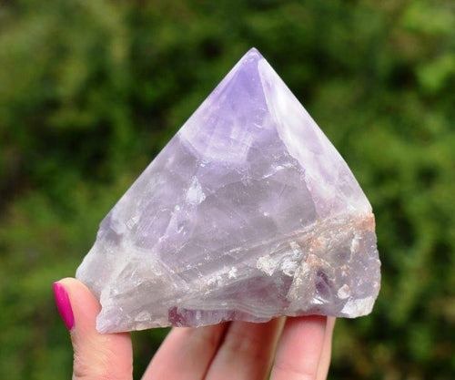 New! Quality Chevron Purple Mix Amethyst Natural & Unique Polished Crystal Stone Piece 430g Inc Gift Box & Benefits Tag